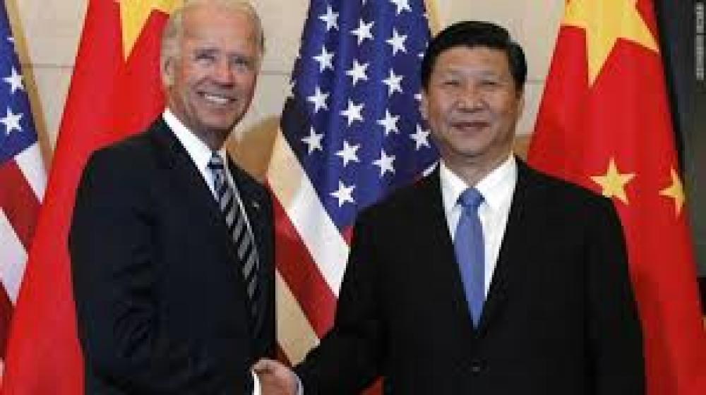 Joe Biden et Xi Jinping lors de leur rencontre pour les élections présidentielles américaines de 2020
