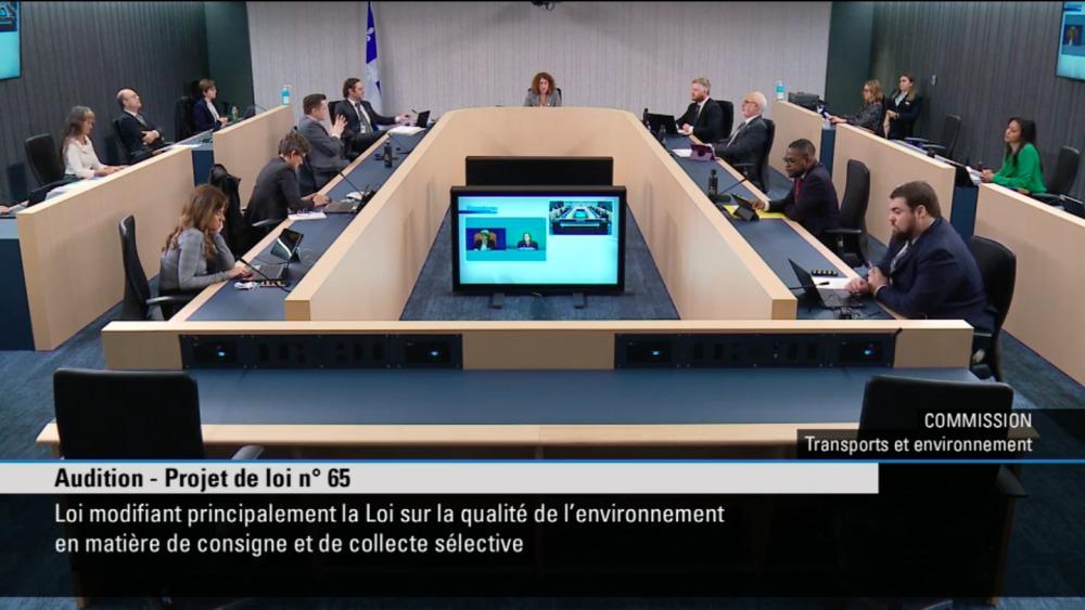 Environnement : Recyc-Québec participe aux consultations sur la Loi 65